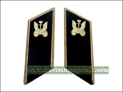 Soviet Army Automotive Troops Uniform Collar Tabs Black