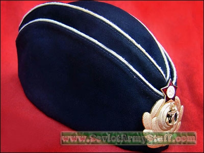 Soviet / Russian NAVY Pilotka Hat + Badge