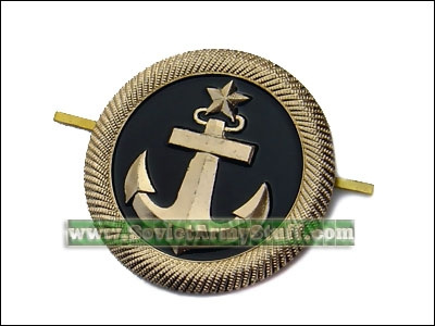 Russian Military NAVY Uniform Anchor Hat Badge