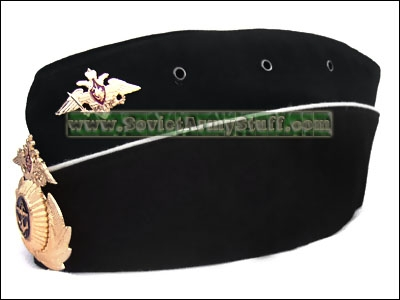 Russian NAVY Officer Uniform Hat Pilotka + Badge