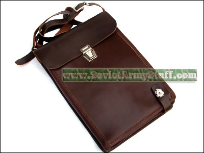Russian Army Officer Uniform Leather Documents Map Bag / Case
