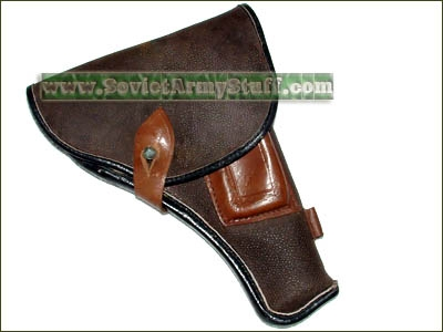 Russian Army Officer Uniform TT Pistol Leather Holster