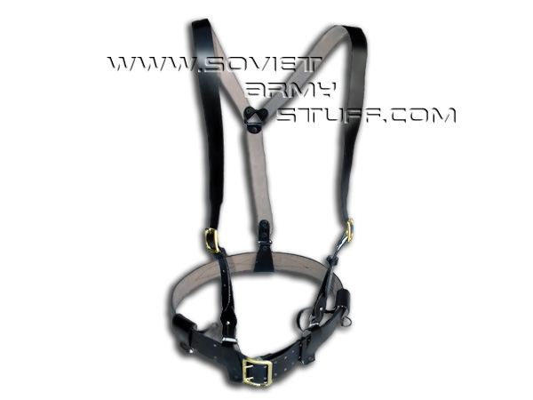 Russian Army Leather Belt + Suspenders Webbing Set Y-Shape