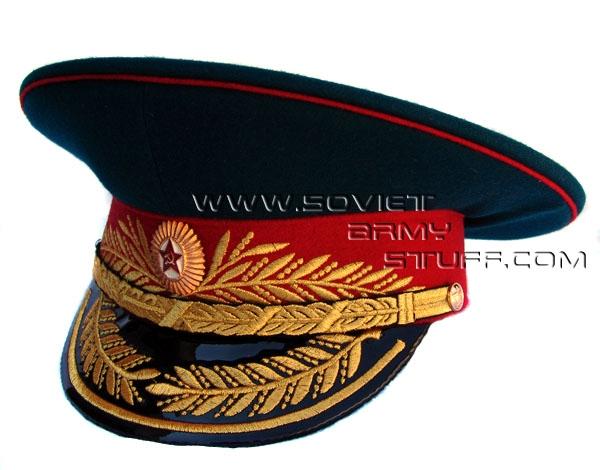 Soviet Army Military GENERAL Uniform Visor Hat Cap Peaked Hat 394f216c375