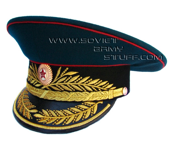 Soviet Army Military GENERAL Uniform Visor Hat Cap Peaked Hat