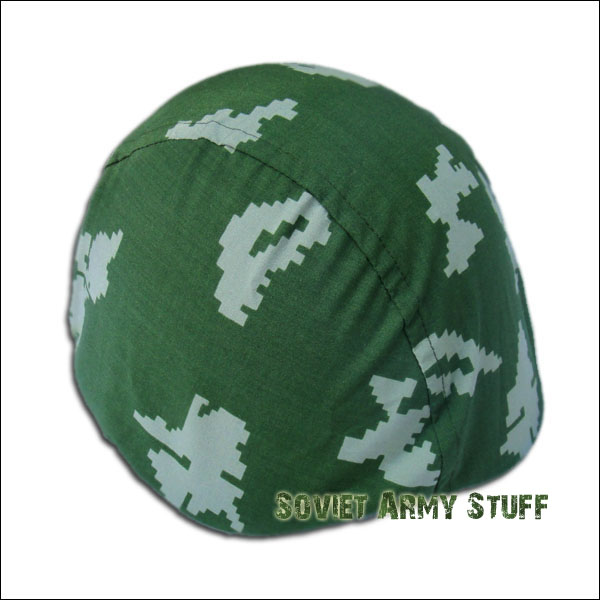 Russian Army M40 / M60 / M68 Steel Helmet Digital Camo Cover BERYOZKA KLMK GREEN - WHITE