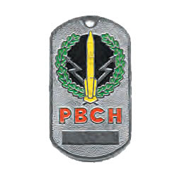 Russian Army Military Intercontinental Missile Defence Troops Name Tag RVSN