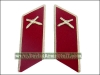Soviet Army Artillery Troops Uniform Collar Tabs Red