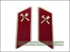 Soviet Army Firemen Troops Uniform Collar Tabs Red