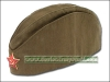 Original Soviet Army Soldier Uniform Hat Pilotka + Badge