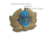 Ukrainian Army Uniform Hat Badge with leaves