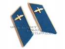 Soviet Russian Aviation Air Force Uniform Collar Tabs Blue with Badges