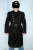 Russian Soviet NAVY Officer Uniform Trench Coat + Ushanka Hat + Leather Belt