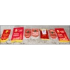 Set of 7 Different Soviet Lenin Communist Flags Banners
