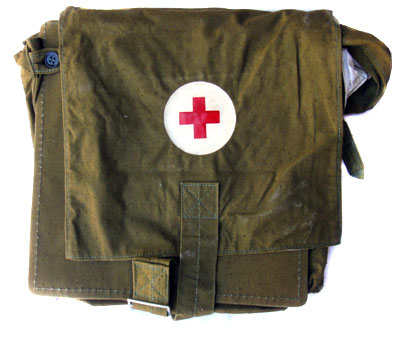 Soviet Russian Army Military Medic Red Corss Field Shoulder Bag