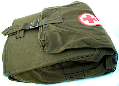 Soviet Russian Army Military Medic Red Corss Field Shoulder Bag COMPLETE